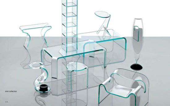 Итальянская мебель из стекла fiam